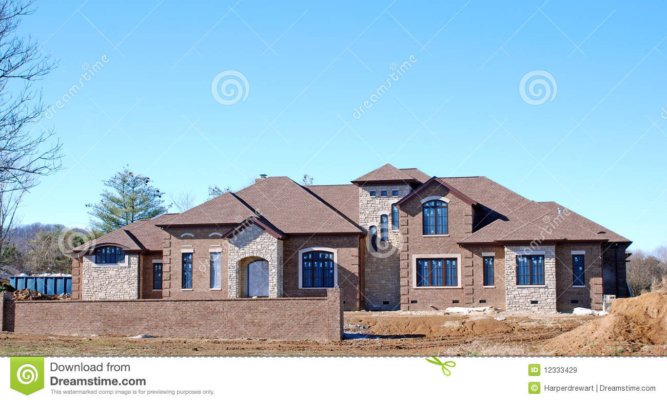 Luxury home under construction 5 royalty free stock images for Architecture maison de maitre