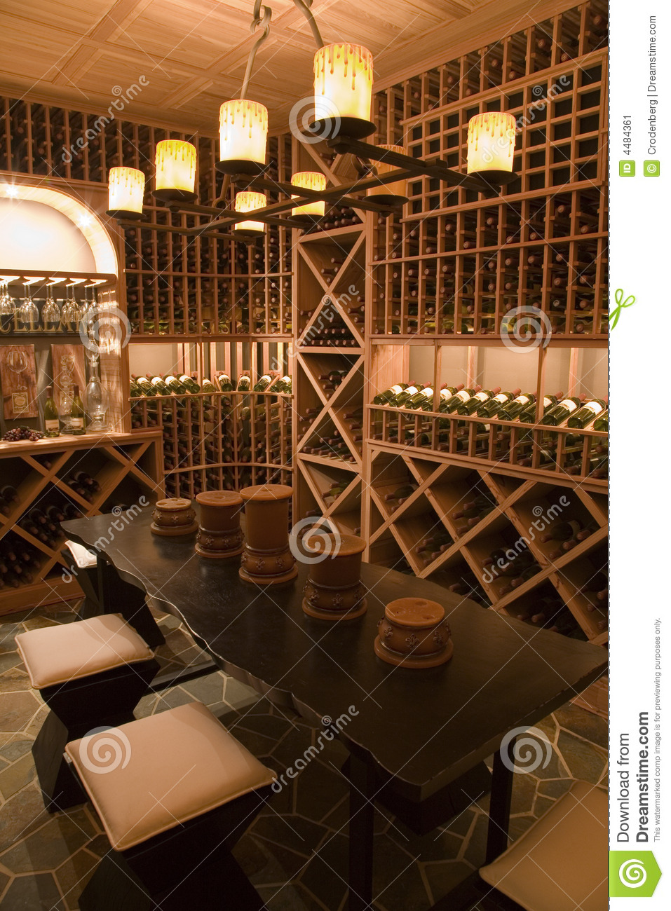 Luxury Home Wine Cellar Stock Image Image Of Group