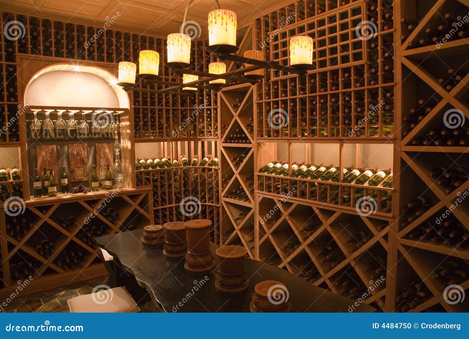 Luxury Home Wine Cellar Stock Photo Image Of Orange