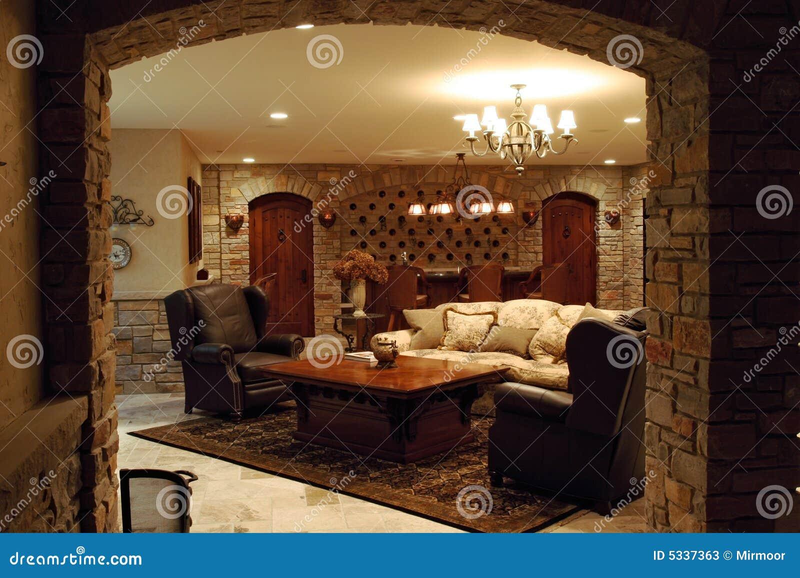 Luxury Home Wine Cellar Stock Photos Image 5337363