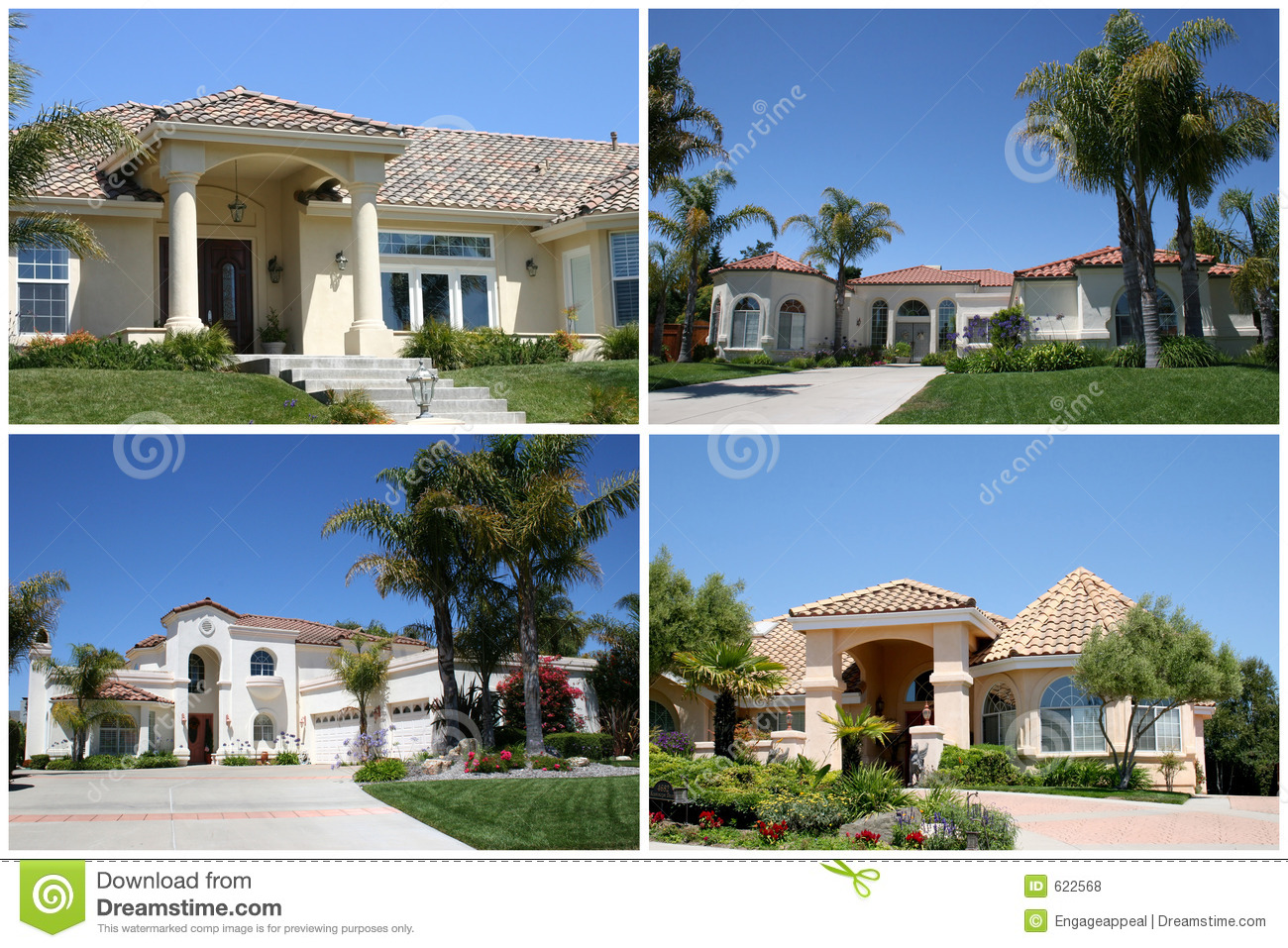 Luxury homes collage royalty free stock photos image 622568 for Free luxury home images