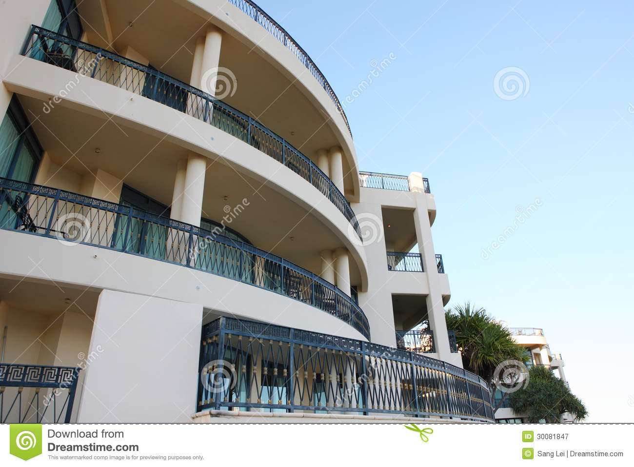 Luxury hotel balcony royalty free stock photography for The balcony hotel