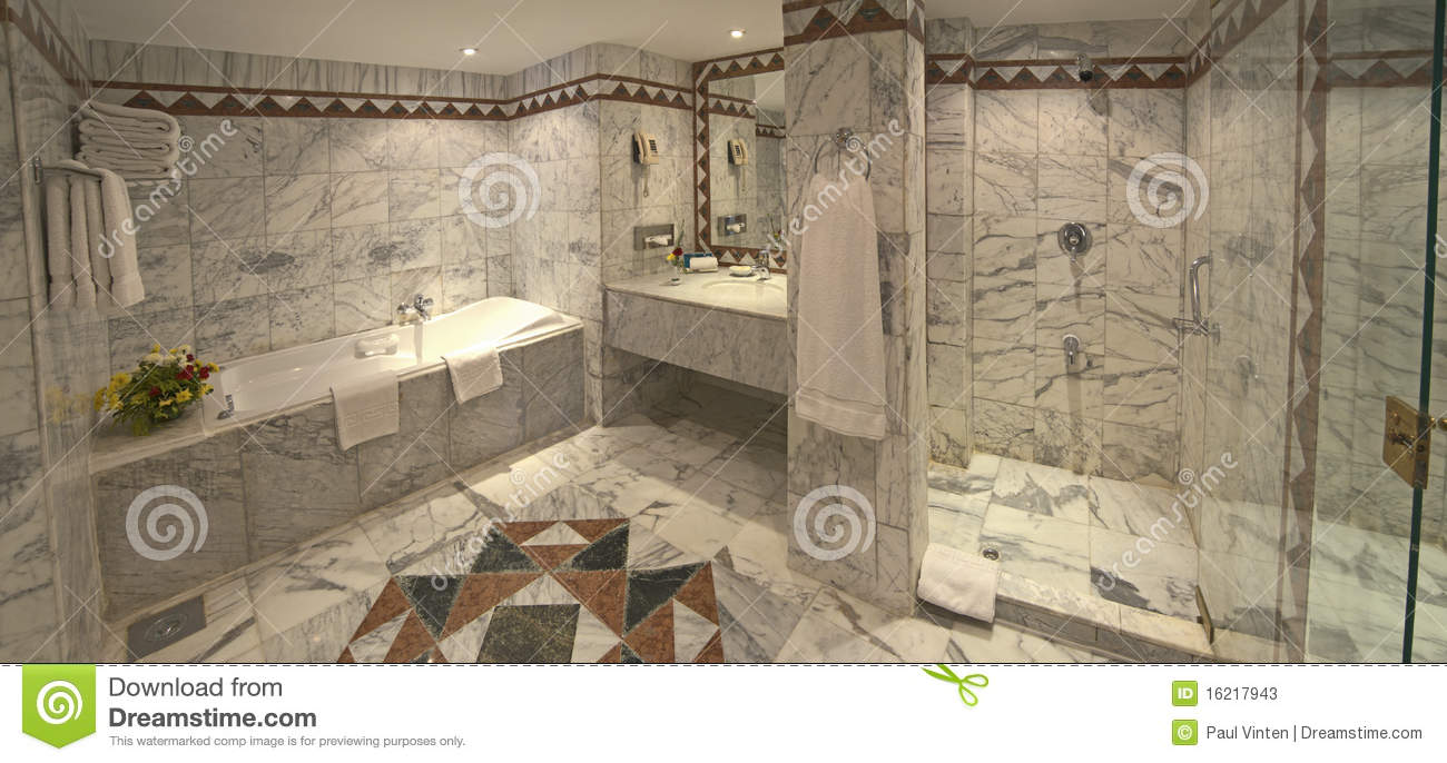 Luxury Hotel Bathroom Suite Stock Photos Image
