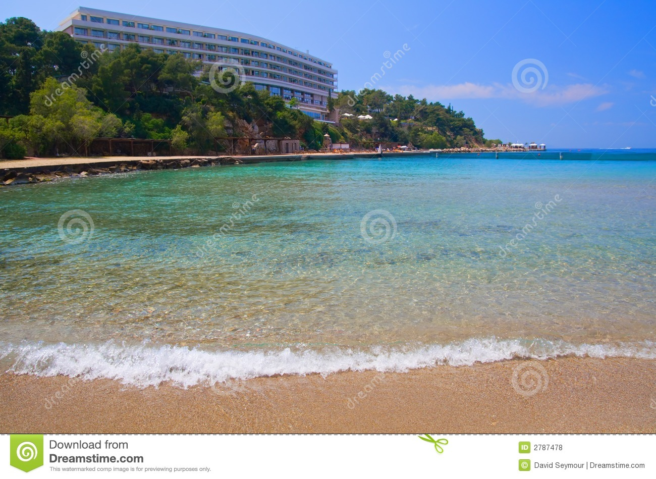 Luxury Hotel Beach Royalty Free Stock Image 2787478