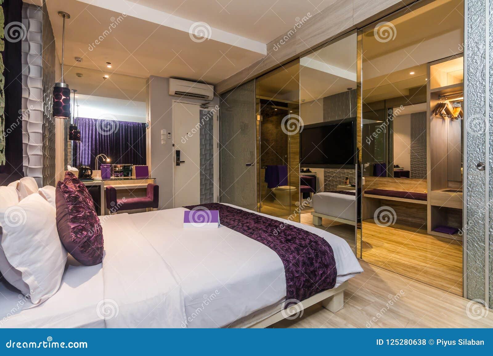 Luxury Hotel Bedroom Stock Photo Image Of Door Bathroom 125280638