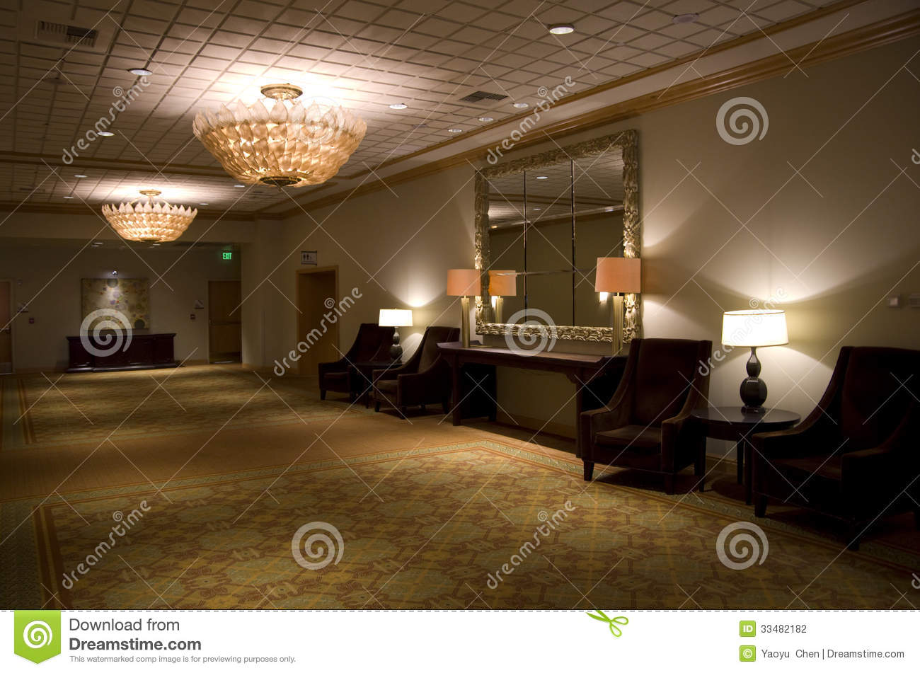 Download Luxury Hotel Corridor Editorial Photography. Image Of Desk    33482182