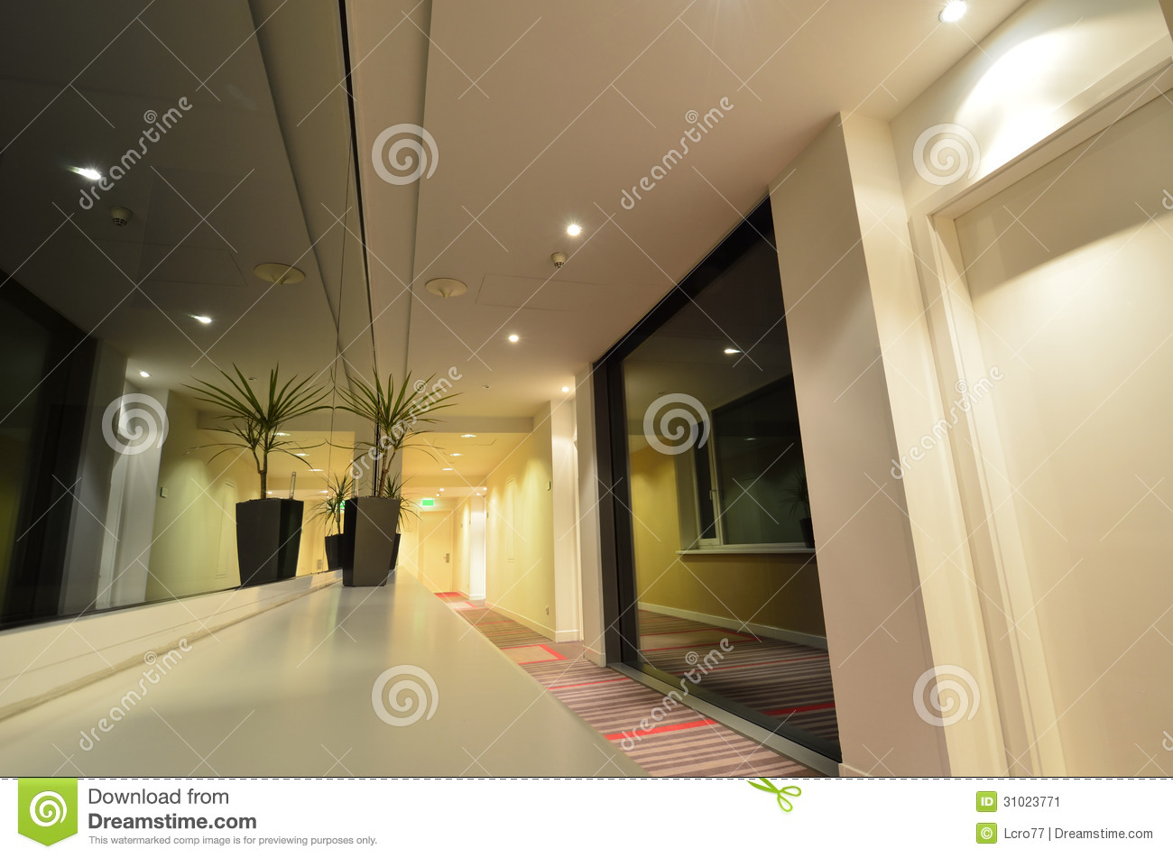 Luxury Hotel Interior Design Stock Image