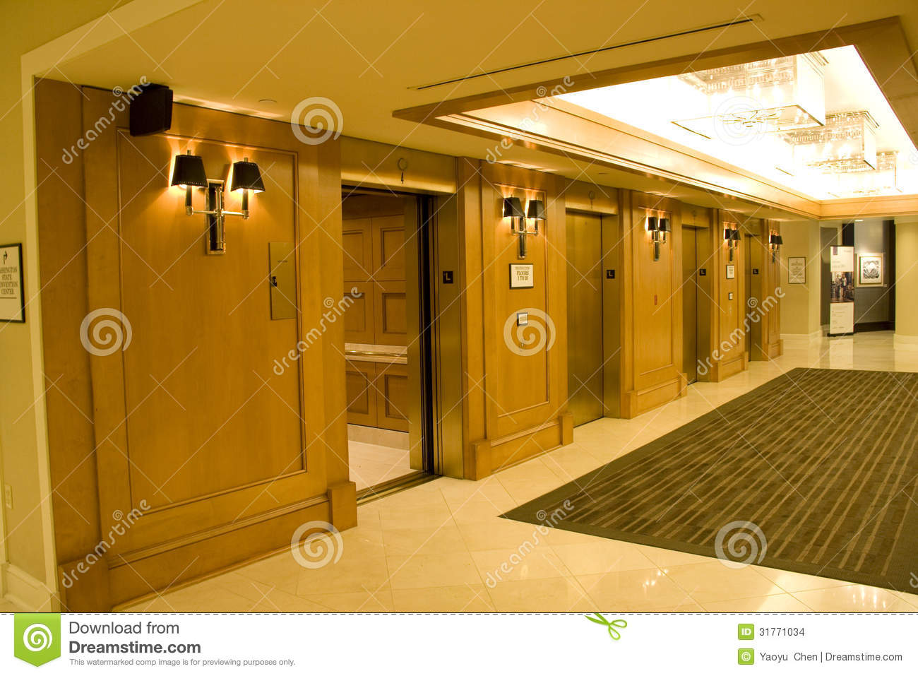 Luxury hotel corridor stock photo image of front travel for Nice hotel design