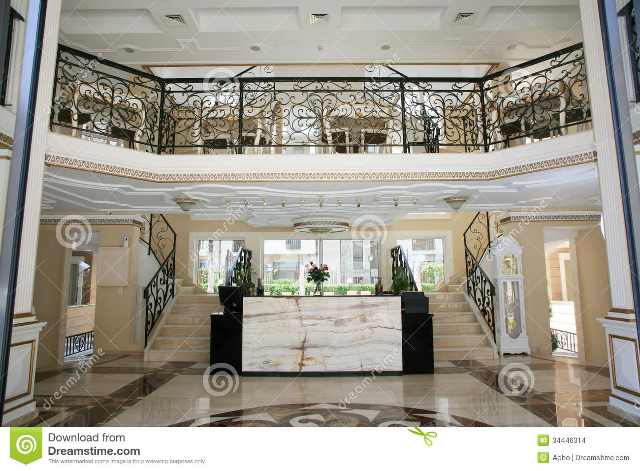 luxury hotel interior stock images - image: 34446314