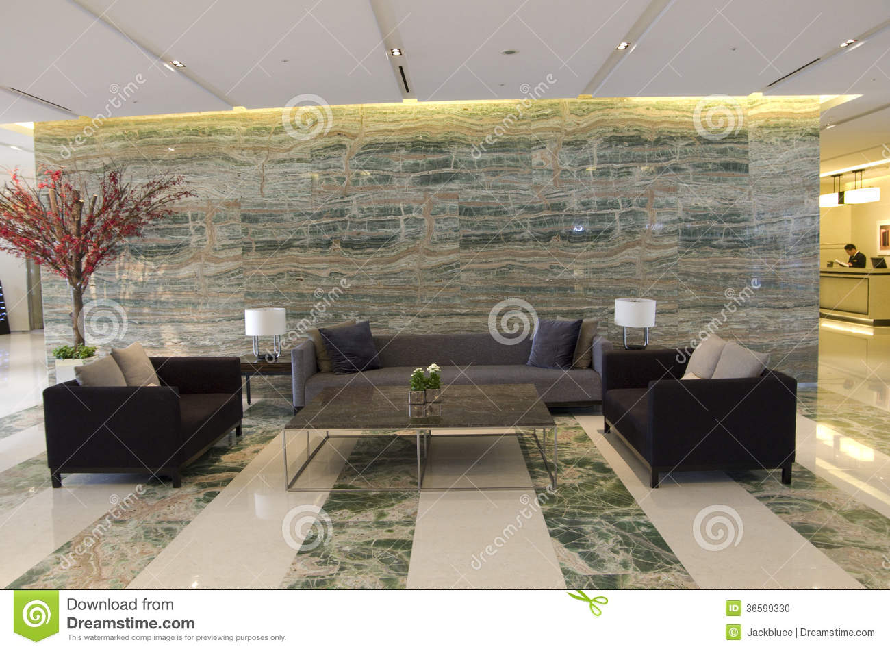 Luxury Hotel Lobby Front Desk Stock Photo - Image of desk ...