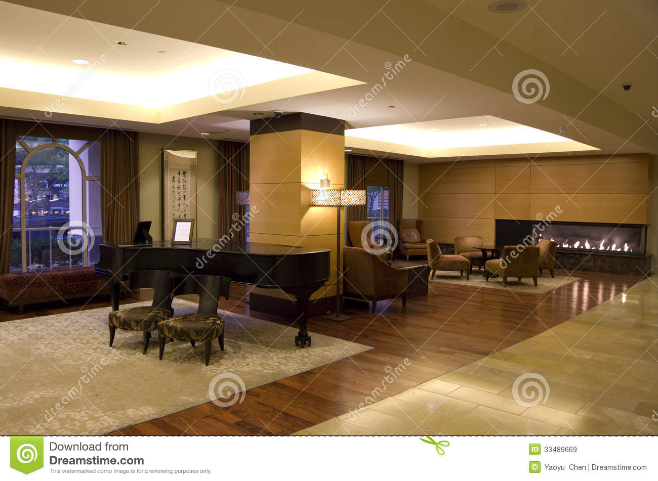 Luxury Hotel Lobby Editorial Stock Image - Image: 33489669