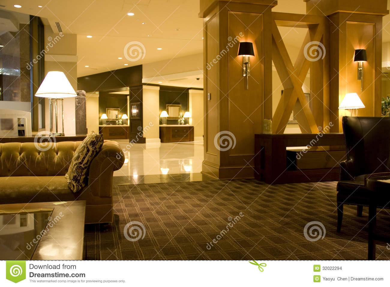 Luxury hotel lobby interiors lighting stock images image for Nice hotel design