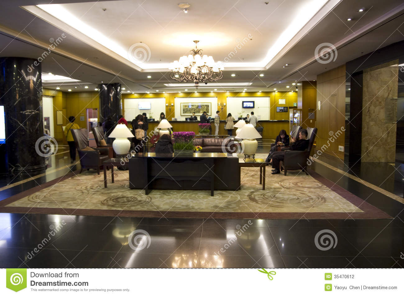 Luxury hotel lobby interiors editorial photography image for Design hotel seoul