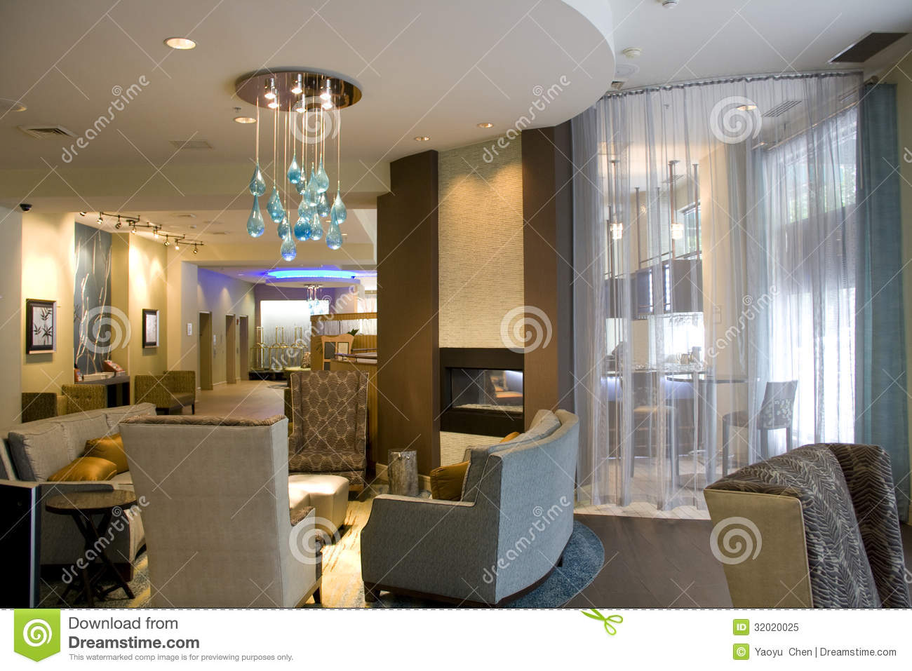 Luxury hotel lobby living room interiors stock image for Nice hotel design