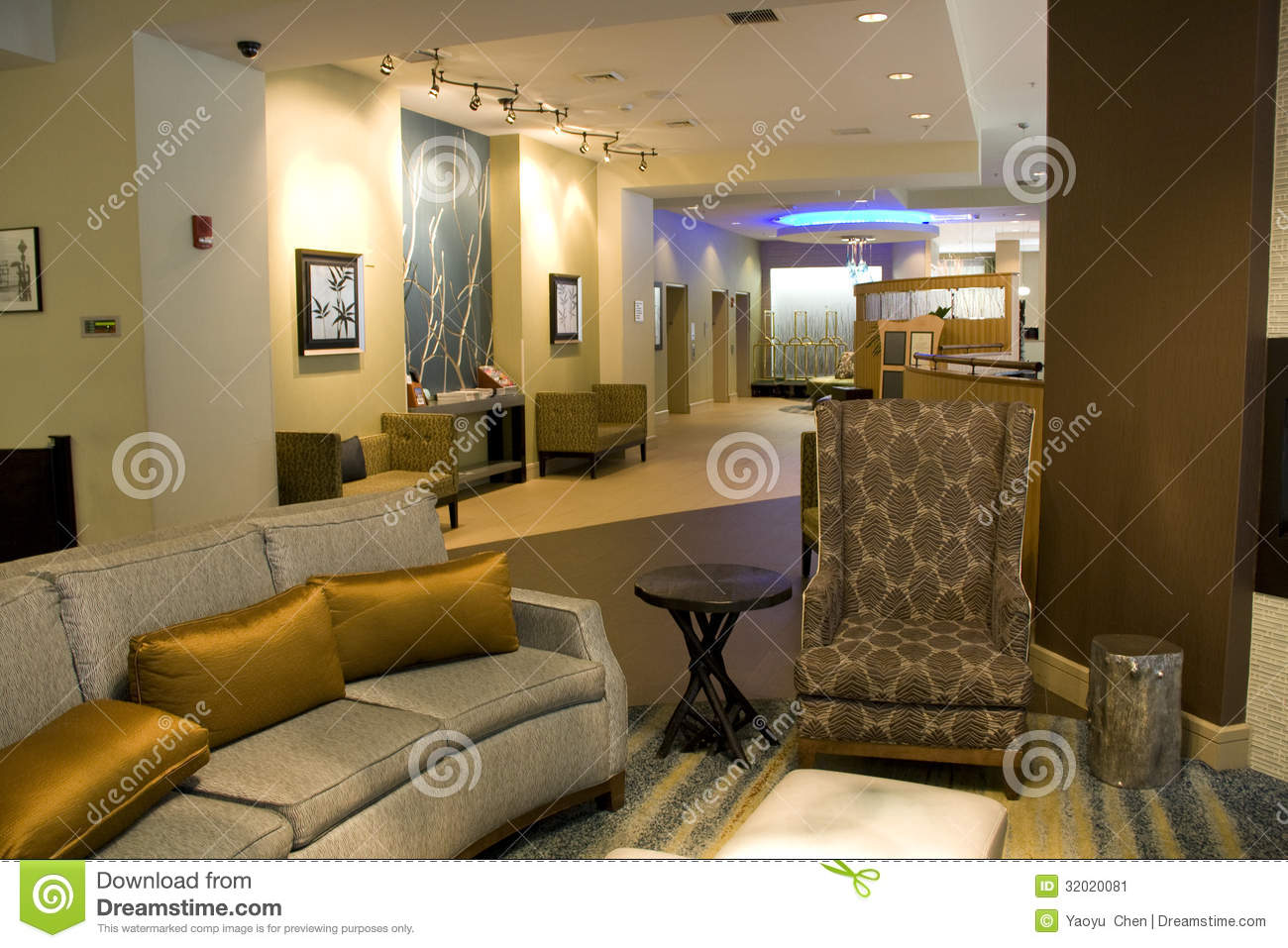 Luxury hotel lobby living room interiors stock image for Luxury hotels in nice