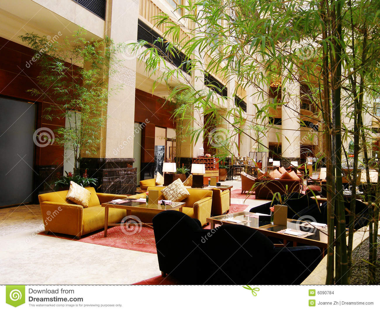 Luxury Hotel Lobby Restaurant Stock Images Image 6090784