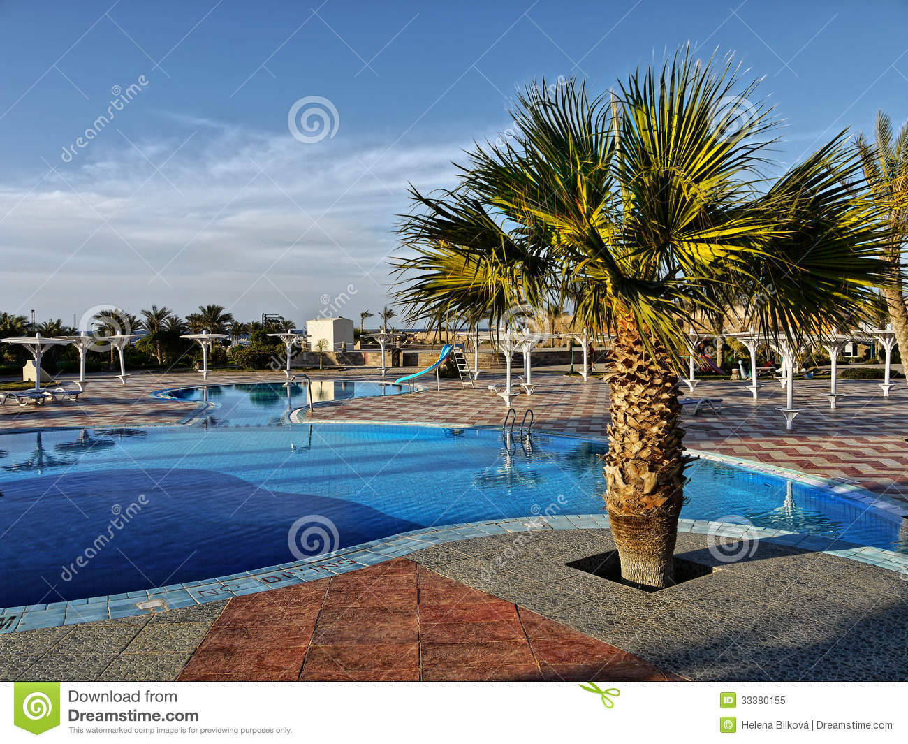 Luxury hotel resort holiday egypt tropical editorial image - Palm beach pool ...