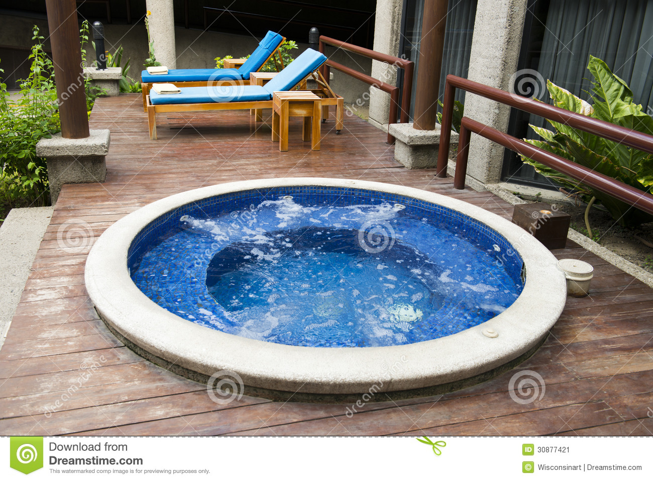Luxury Hotel Resort And Hot Tub Water Spa Stock Image - Image of ...