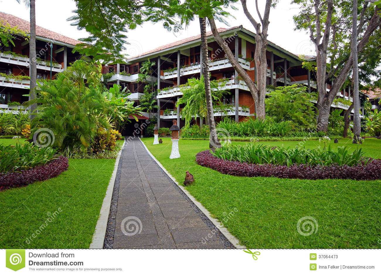 Luxury Hotel Resort With Tropical Garden In Bali Indonesia Stock Photos Image 37064473