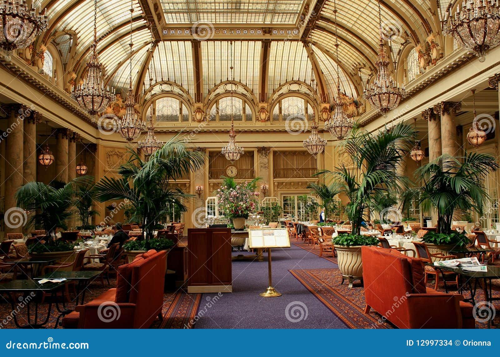 Luxury hotel restauran interior, San Francisco
