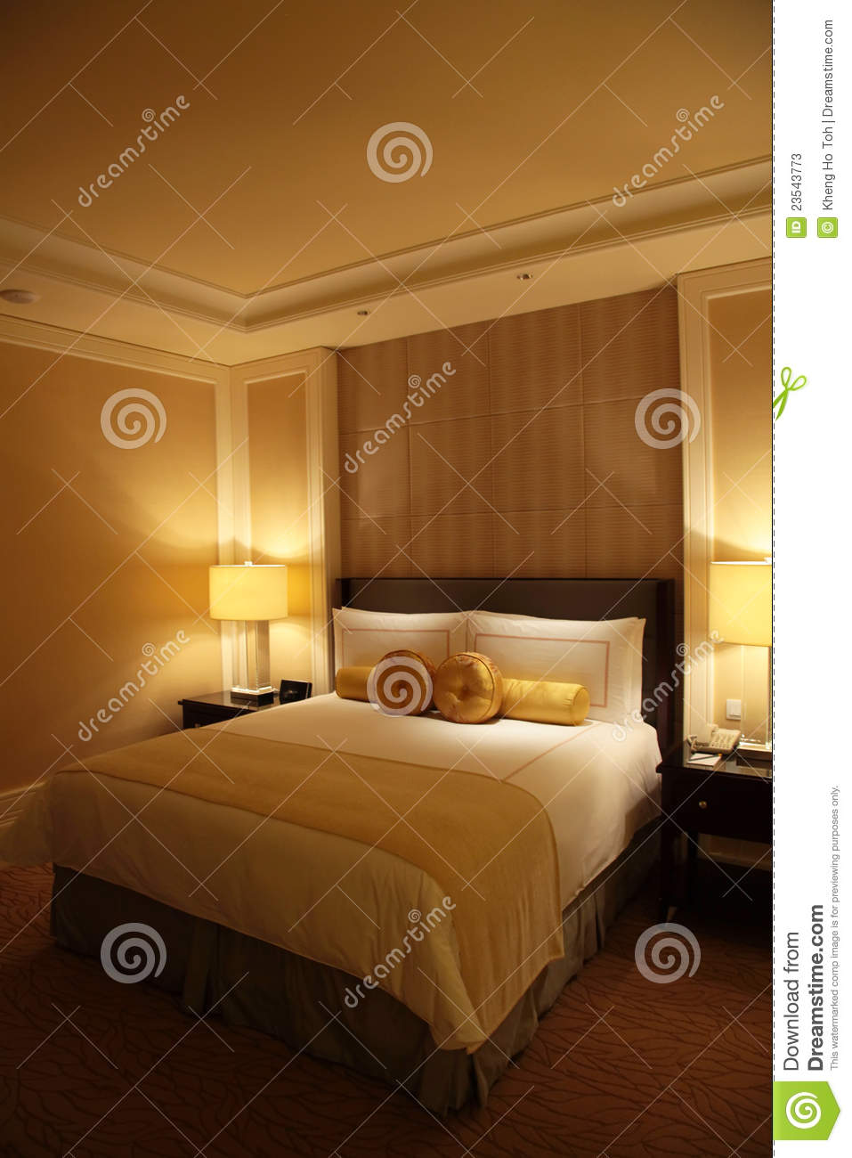 Hotel Bedroom: Luxury Hotel Room Stock Photos