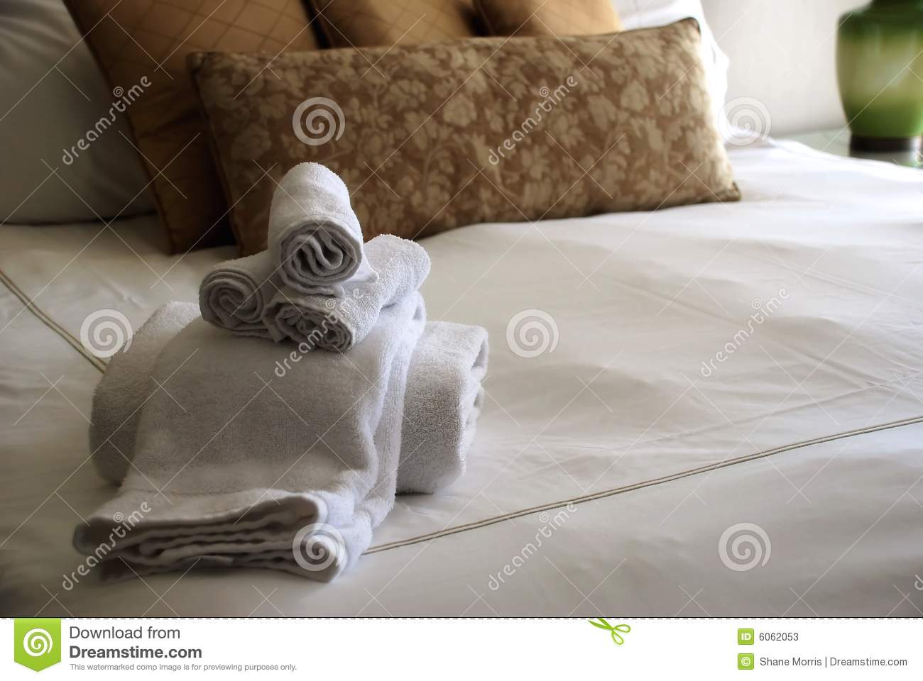 Modern hotel room interior stock photo image 18197840 - Luxury Hotel Room Bed With Towels Stock Photos