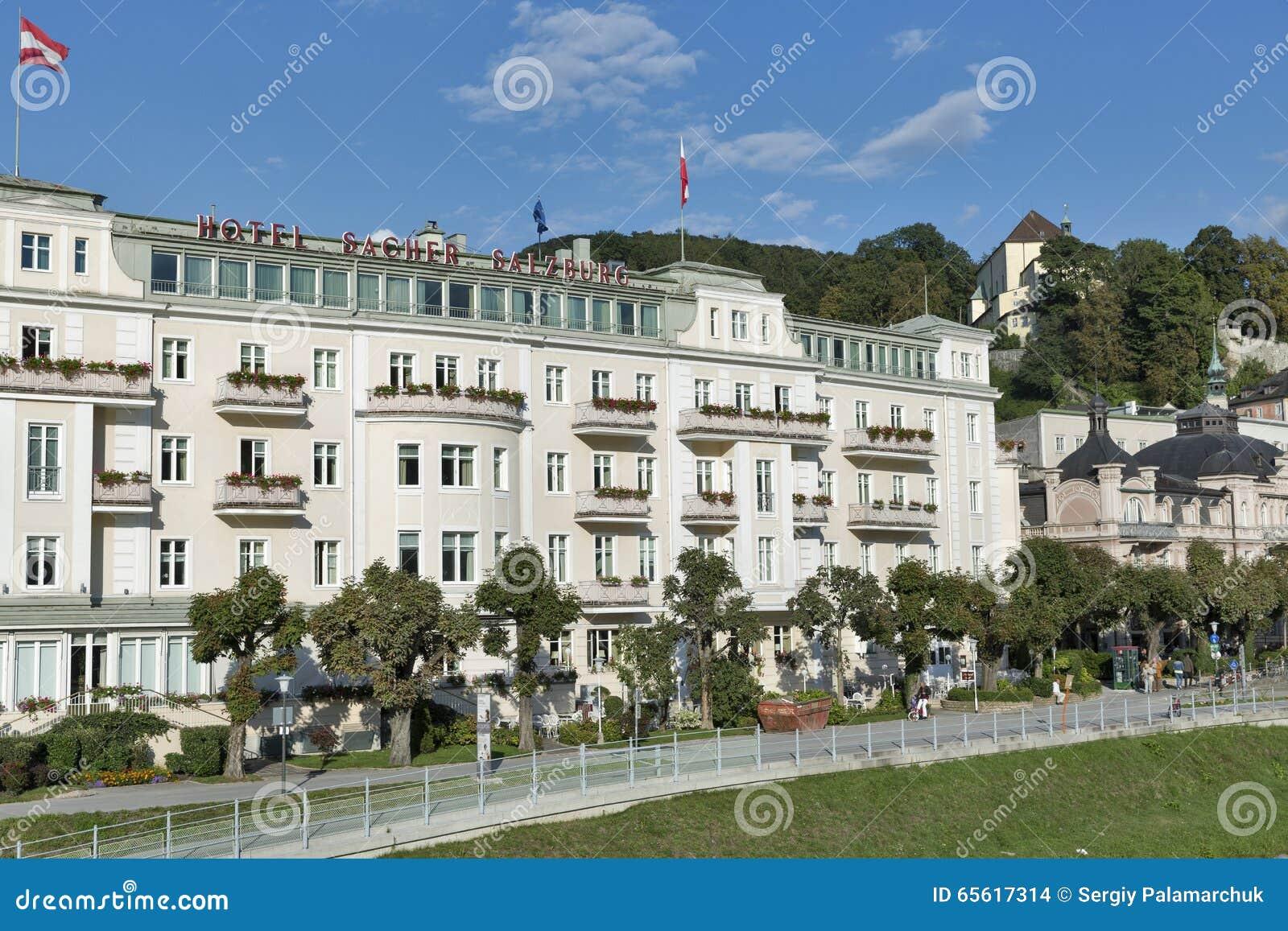 Luxury Hotel Sacher In Salzburg Austria Editorial Stock