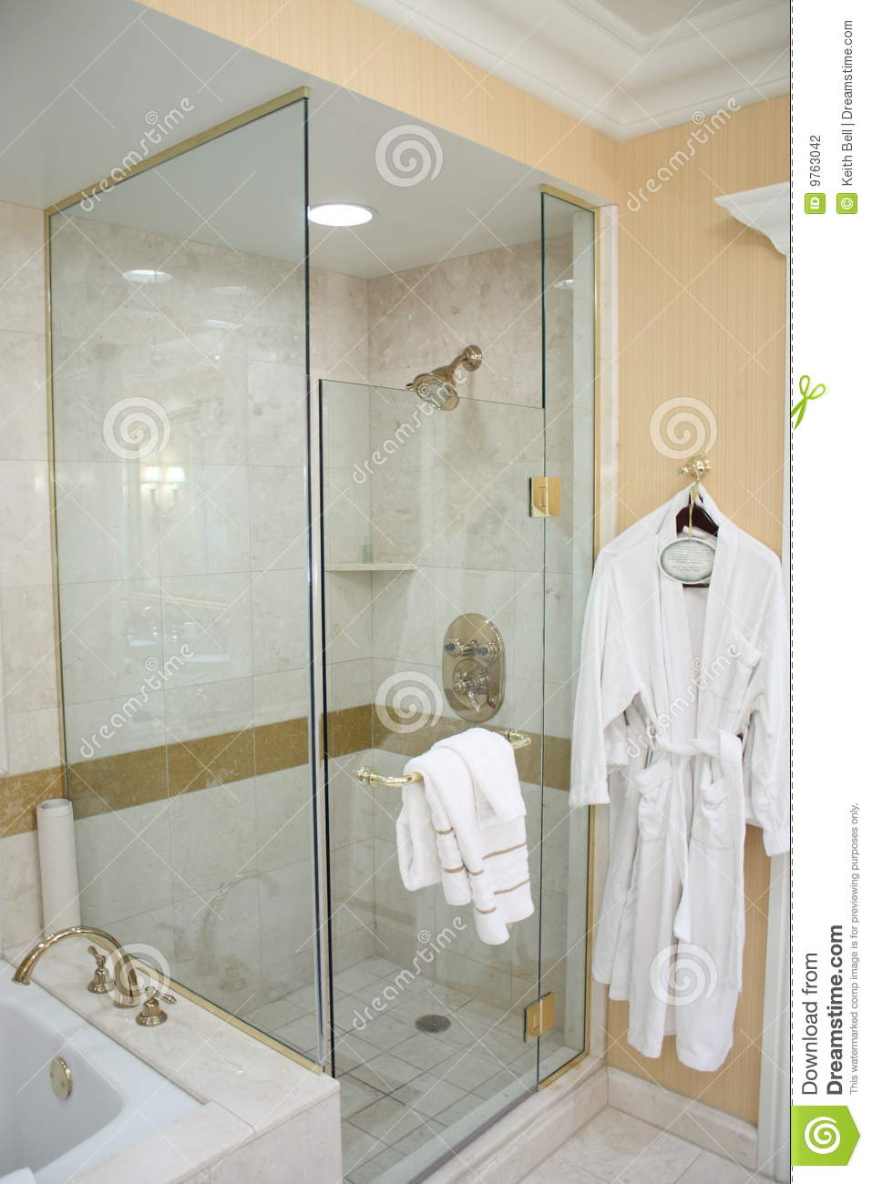 luxury hotel shower robe 9763042