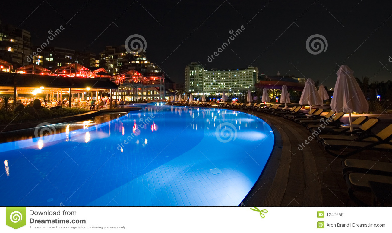 Luxury hotel swimming pool