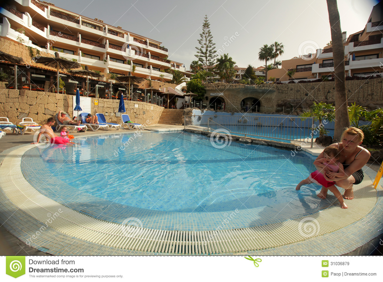 Luxury Hotel Swimming Pool Editorial Stock Image Image