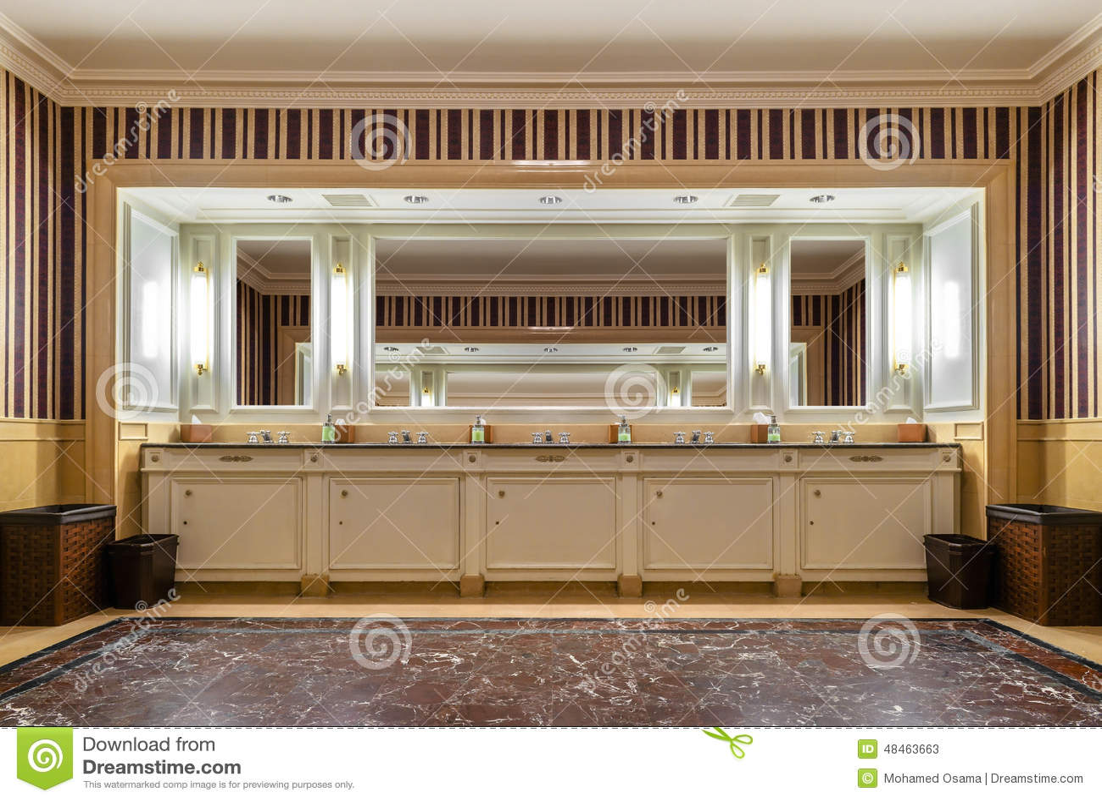 Luxury Hotel Toilet Mirrors Stock Photo  Image 48463663