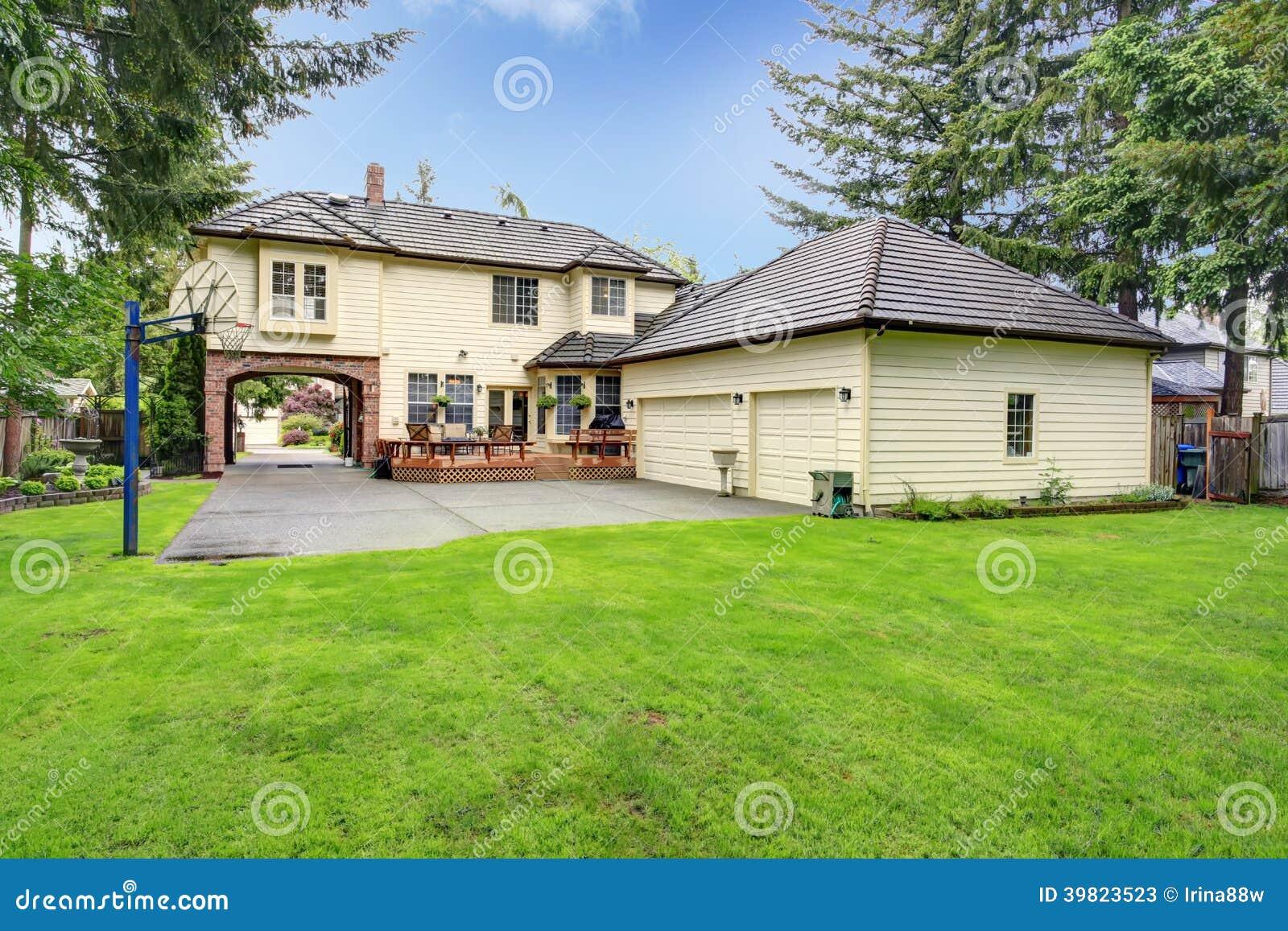 complete teardown and rebuild new house porte cochere style