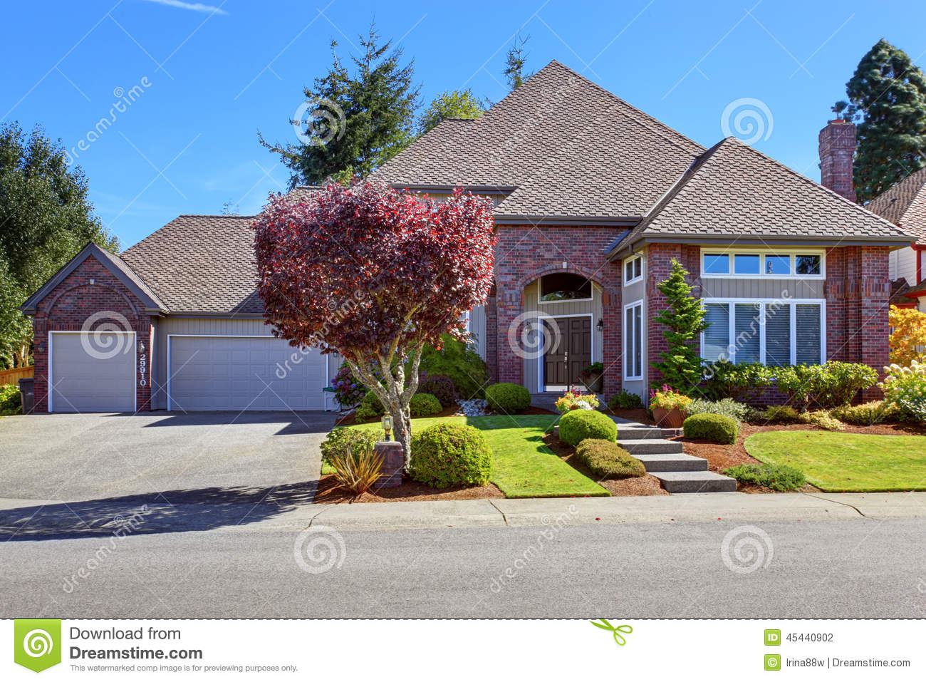 Royalty Free Stock Photo. Download Luxury House With Brick ...