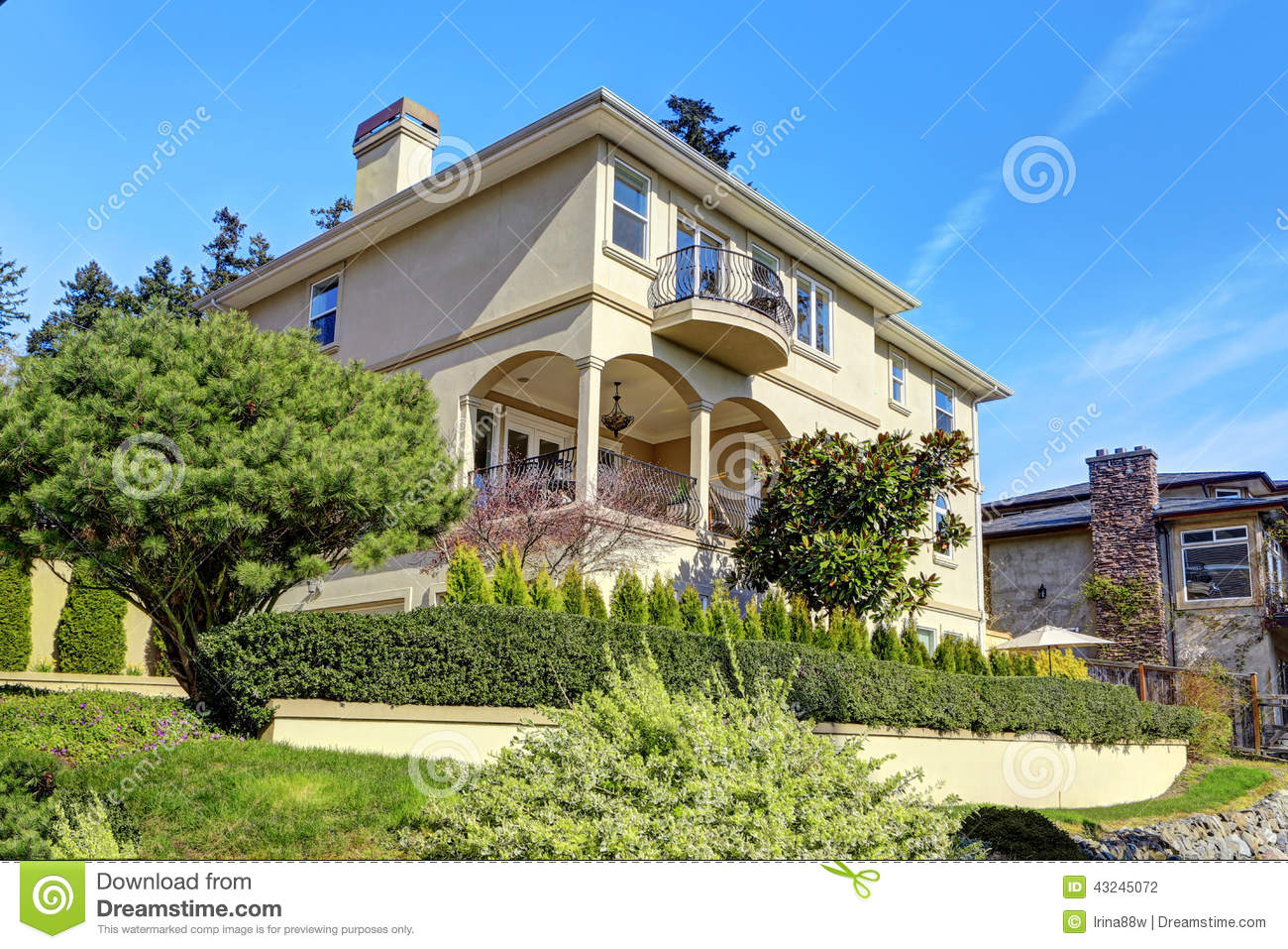 Luxury house exterior with landscape design stock photo for Luxury homes exterior design
