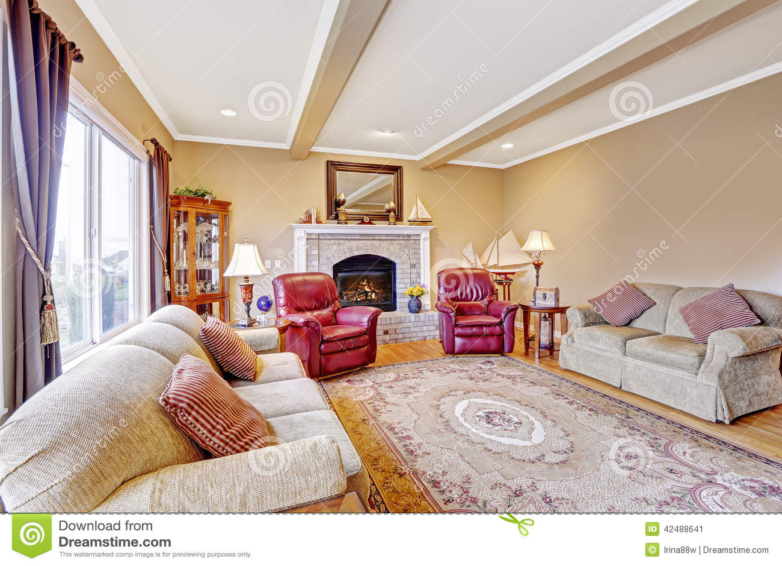 Luxury House Interior Living Room Stock Photo Image