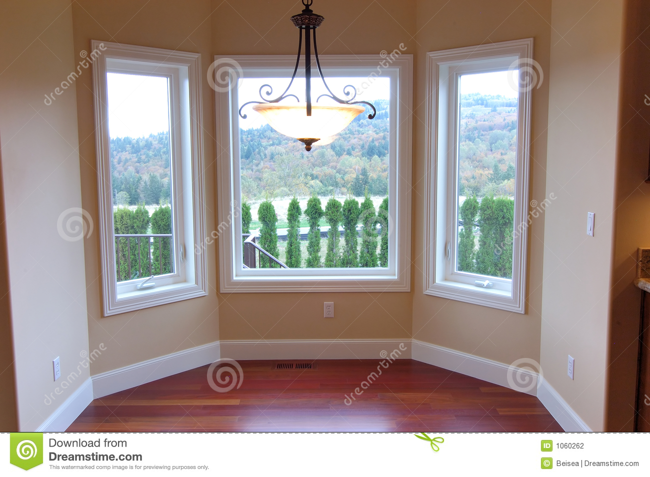 Luxury house nook with view stock photography image 1060262 for Breakfast nook building plans