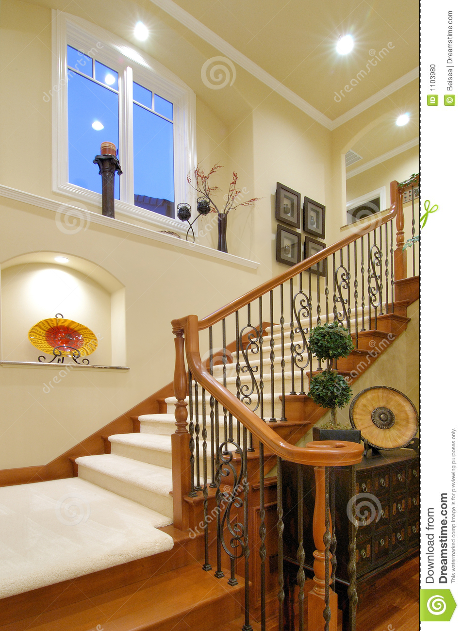 Luxury House Staircase Stock Photo Image Of Modern Interior 1103980