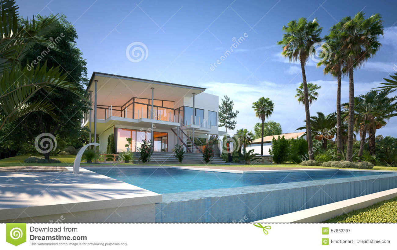 Luxury House Pool luxury garden pool stock images - image: 11325664