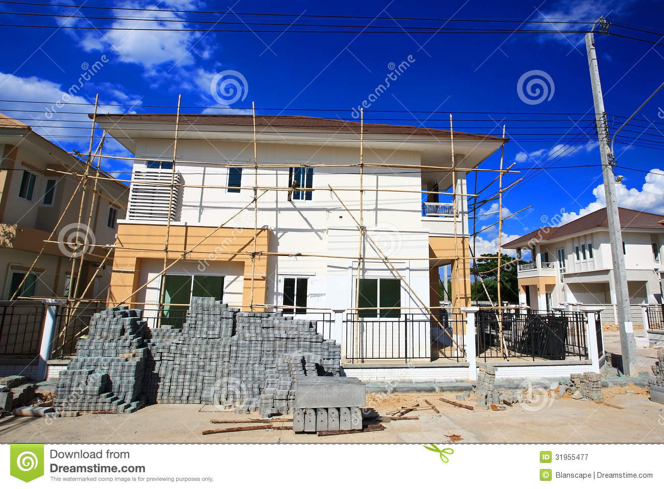 Luxury Home Under Construction 5 Royalty Free Stock Photo