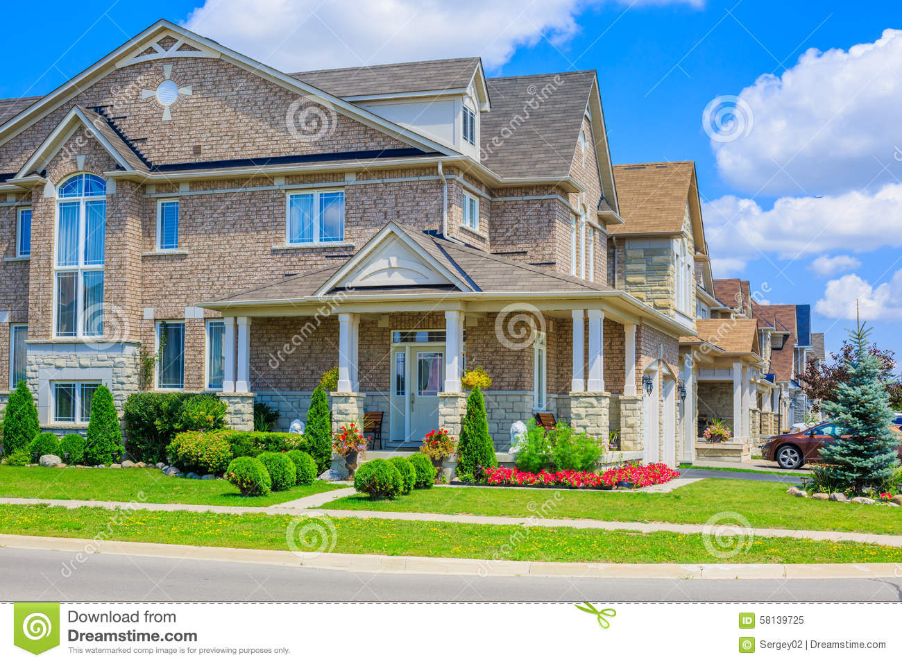 Luxury Houses In North America Stock Image Image 58139725