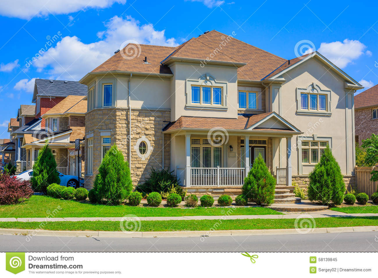Luxury houses in north america stock photo image 58139845 for Custom built house