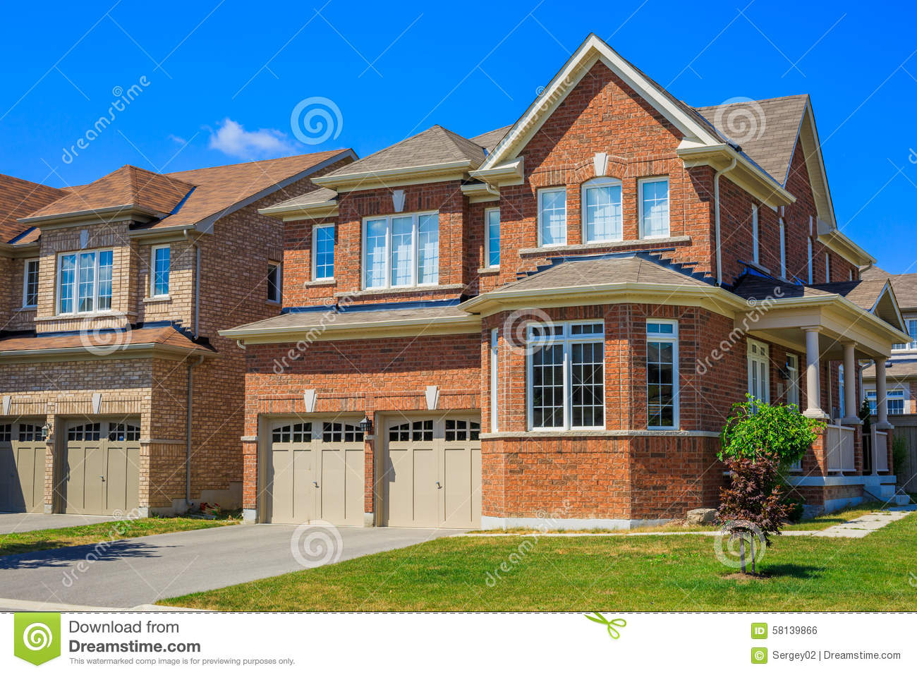 Luxury houses in north america stock photo image 58139866 for Custom mansions