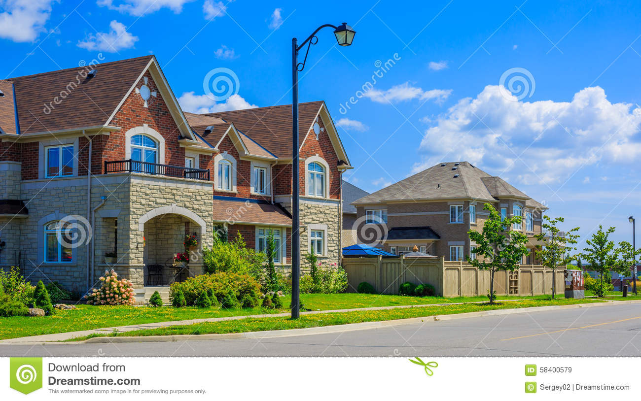 Luxury houses in north america stock photo image 58400579 for Custom build house online