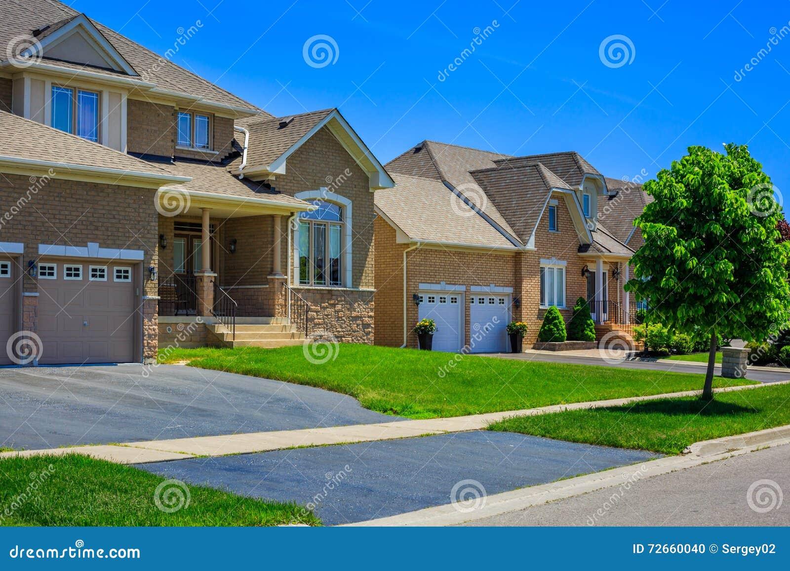 Luxury Houses In North America Stock Photo Image 72660040