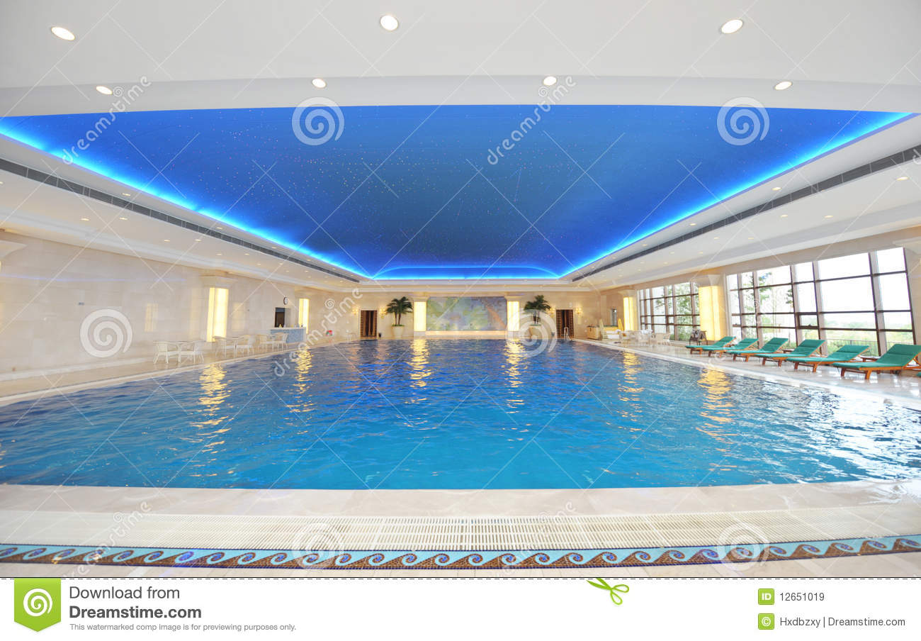 Luxury indoor pool stock image image of peaceful for Luxury swimming pools