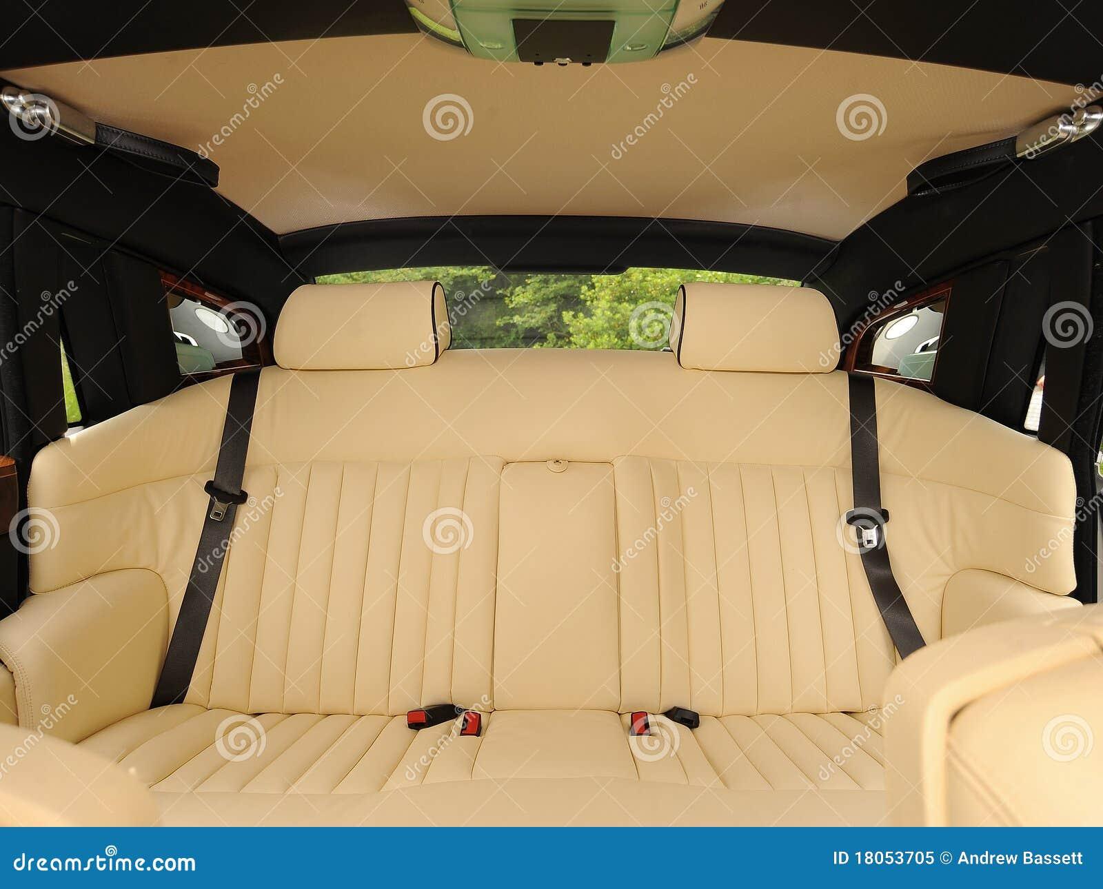luxury interior of car stock image image of auto comfortable 18053705. Black Bedroom Furniture Sets. Home Design Ideas