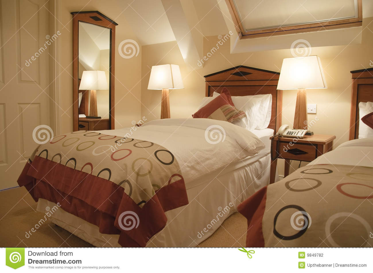 Luxury interior of modern bedroom stock photography image 9849782 - Inside luxury bedrooms ...