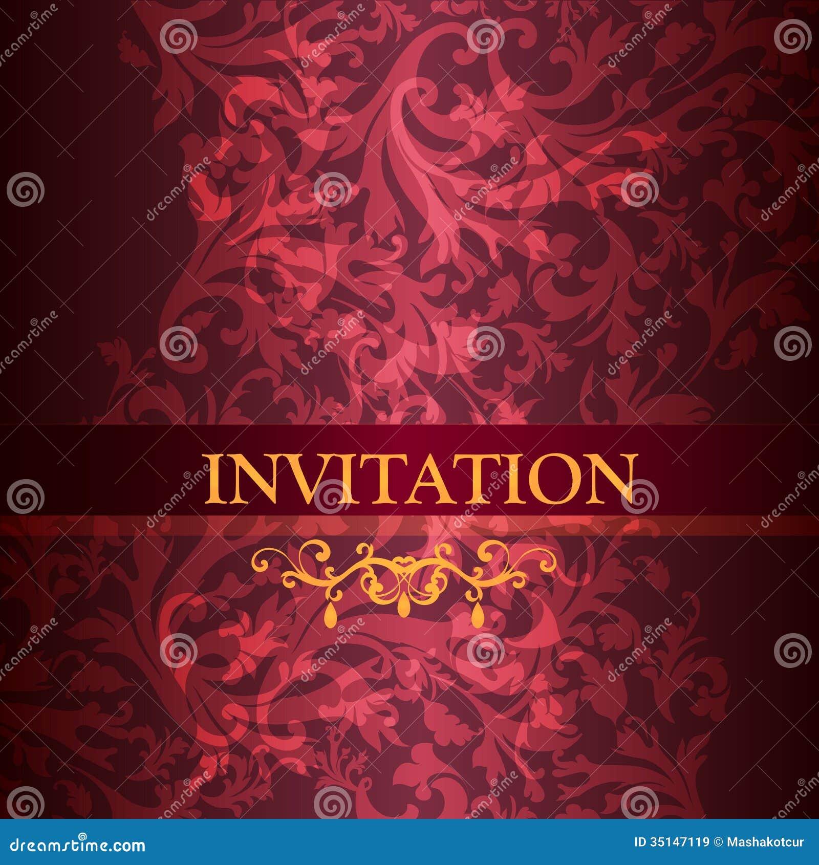 Luxury Invitation Card In Purple Color Stock Vector - Illustration ...