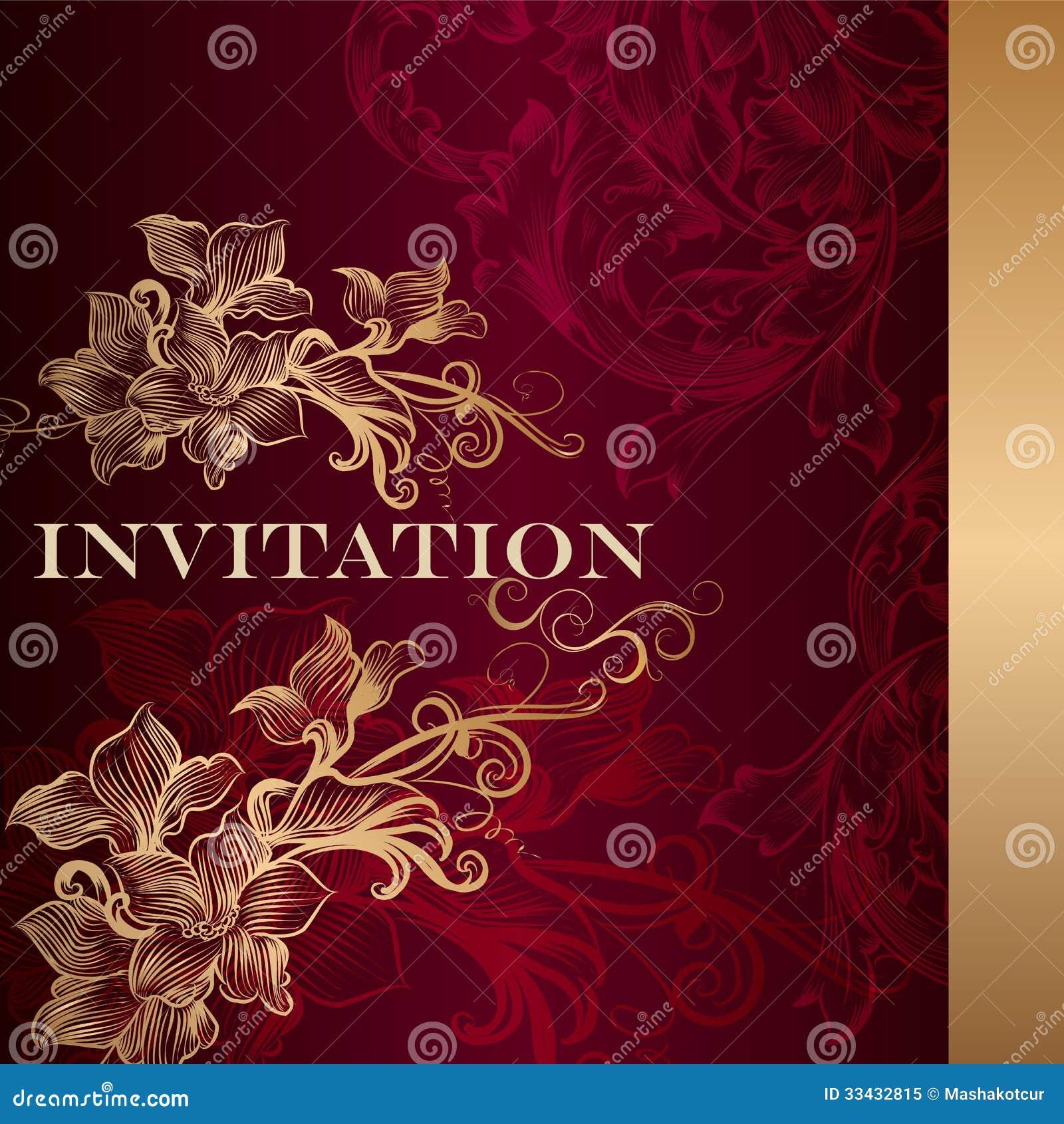 luxury invitation card vintage style elegant classic wedding menu retro vector 33432815 luxury invitation card in vintage style royalty free stock photo,Luxury Invitation Cards