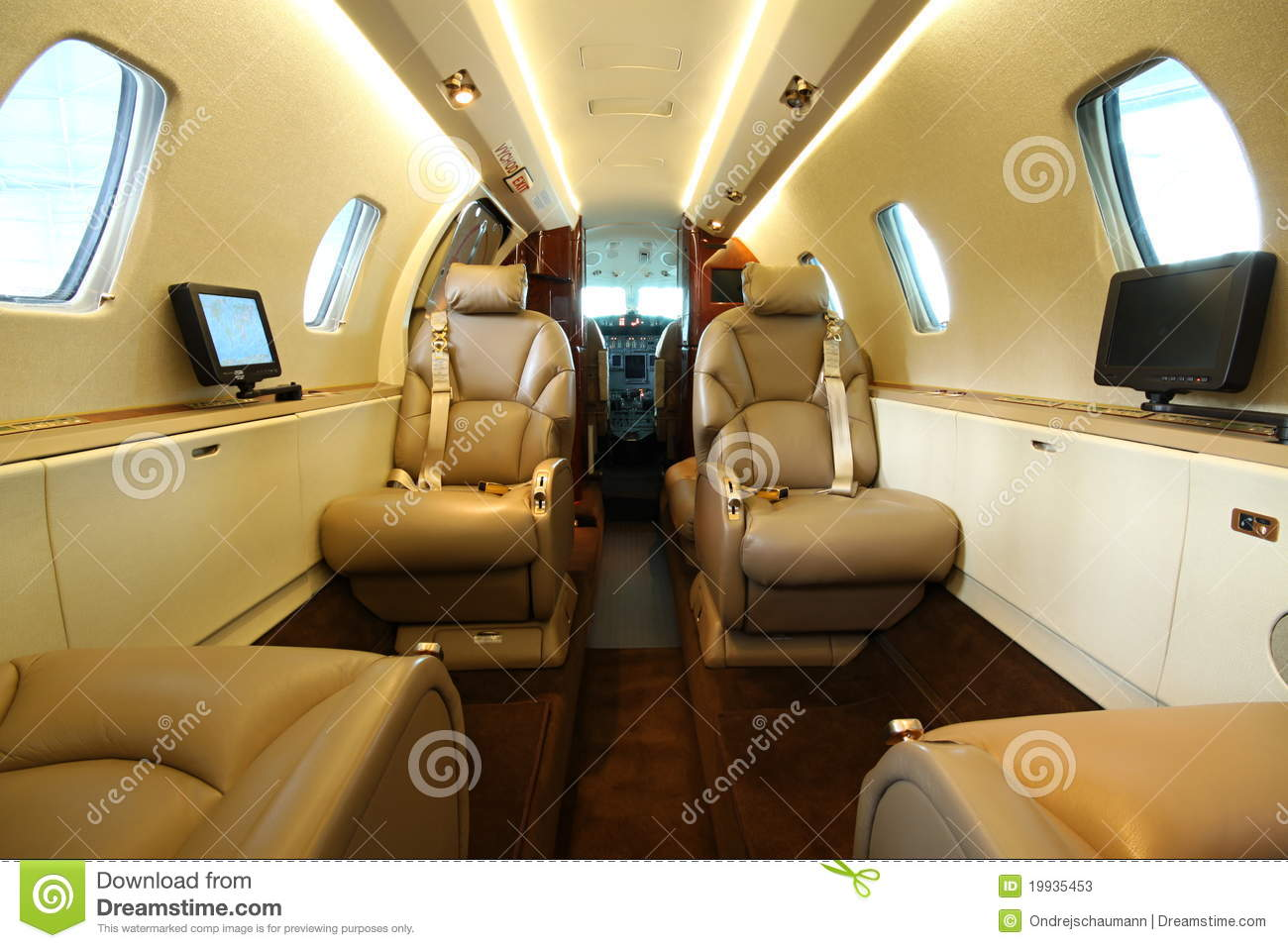 Luxury Jet  Central Galley Stock Photos  Image 19935453